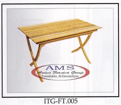 Alodia Folding Teak Table
